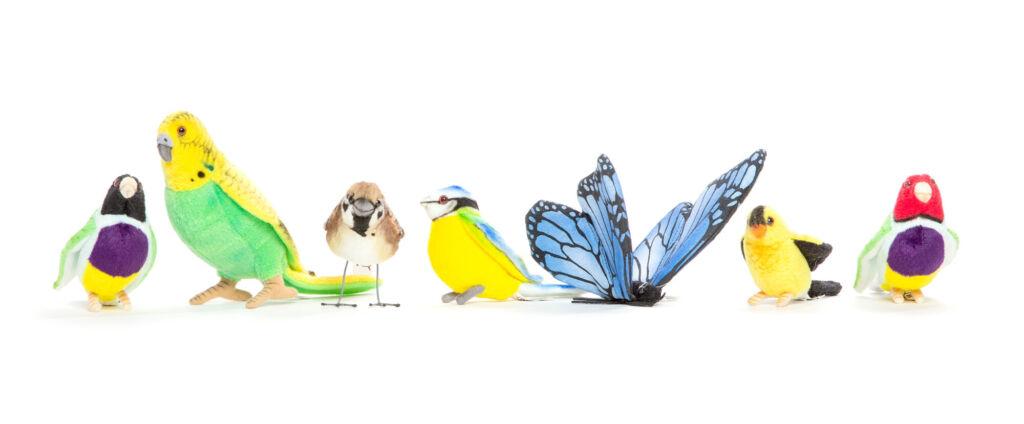 Verzameling pluche dieren vogels HansaCreation