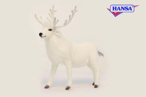 Mooie Witte Rendier wit  40 cm kopen