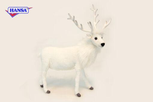 Mooie Witte Rendier wit  52 cm kopen