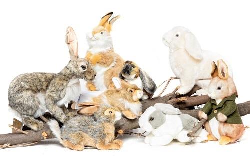 Pluchen knuffeldieren konijnen knuffels sprekend echt Hansa Creation
