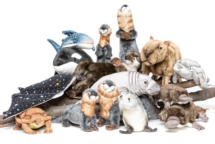 Verzameling zeedieren pluche dieren HansaCreation