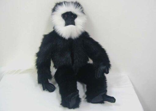 Mooie Zwarte franjeaap knuffel  56 cm kopen