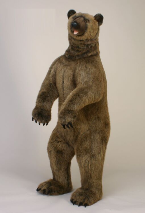 Mooie XL Bruine Grizzlybeer staand H decoratie  150 cm kopen