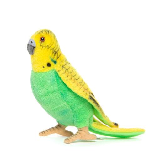 Mooie Gele Grasparkiet groen knuffel  15 cm kopen