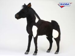 Mooie XL Zwarte Shetland pony zwart-wit decoratie  106 cm kopen