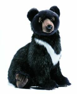 Mooie zwarte beer welp knuffel  41 cm kopen