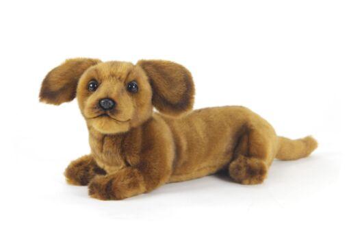 Mooie Licht bruine Teckel pup knuffel  40 cm kopen