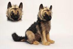 Mooie Licht bruine Duitse herder pup knuffel  41 cm kopen