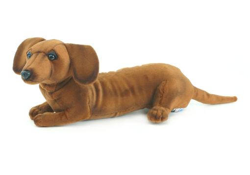 Mooie Bruine Teckel pup knuffel  40 cm kopen