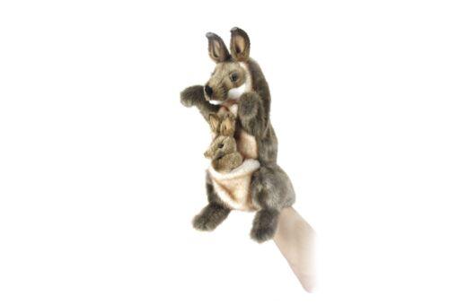 Mooie Bruine Kanga handpop knuffel  29 cm kopen