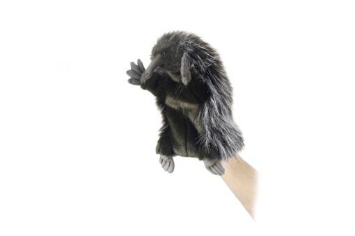 Mooie Donkere Mierenegel handpop knuffel  27 cm kopen