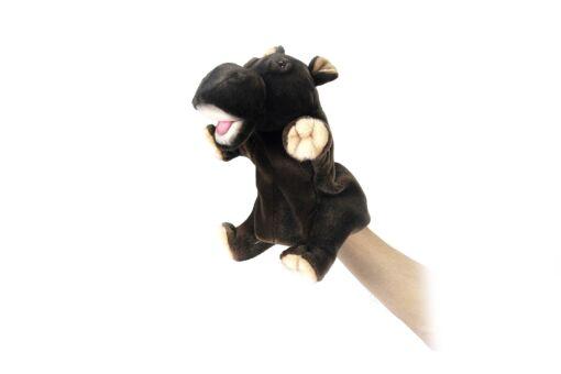 Mooie Donkere Nijlpaard handpop knuffel  24 cm kopen