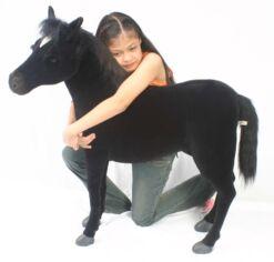 Mooie XL Zwarte Paard zwart S decoratie  97 cm kopen
