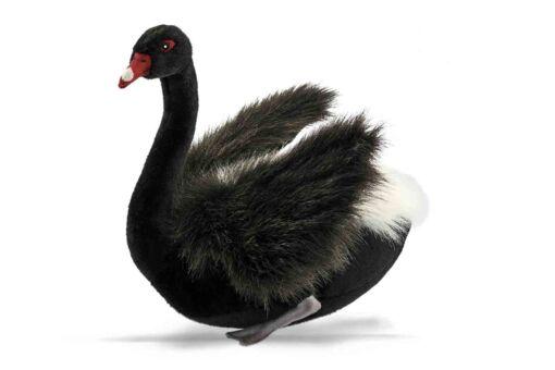Mooie XL Zwarte zwaan decoratie  64 cm kopen