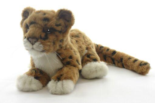 Mooie Roodbruine Jaguarwelp bruin liggend knuffel  26 cm kopen