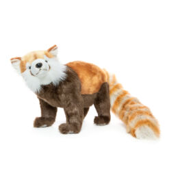 Mooie Roodbruine Kleine panda staand knuffel  32 cm kopen