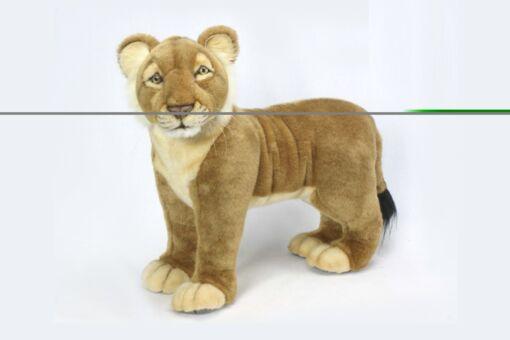 Mooie XL Roze Leeuw welp staand knuffel  55 cm kopen