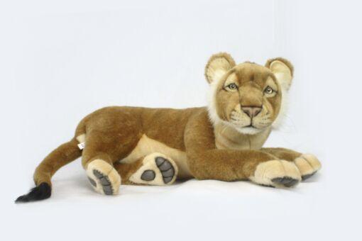 Mooie Roze Leeuw welp liggend knuffel  58 cm kopen