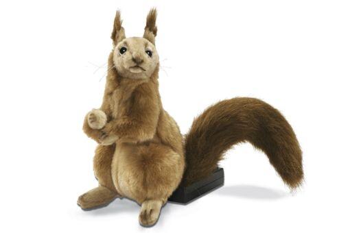 Mooie Beige Eekhoorn zittend knuffel  22 cm kopen