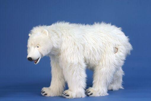 Mooie XL Witte IJsbeer lopend decoratie  105 cm kopen