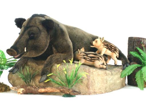 Mooie XL  Wild zwijn liggend decoratie  135 cm kopen