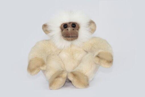Mooie Witte Aap zittend knuffel  20 cm kopen