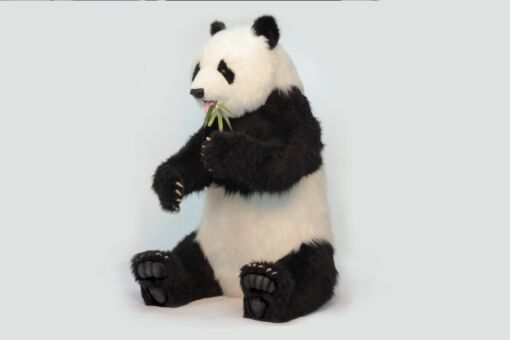Mooie XL Witte Panda zittend decoratie  130 cm kopen