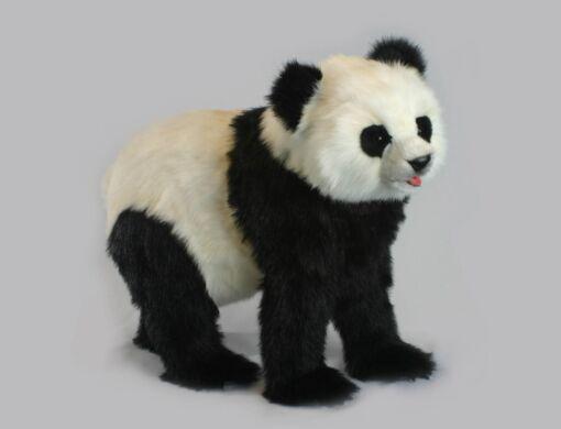 Mooie XL Witte Panda lopend knuffel  75 cm kopen