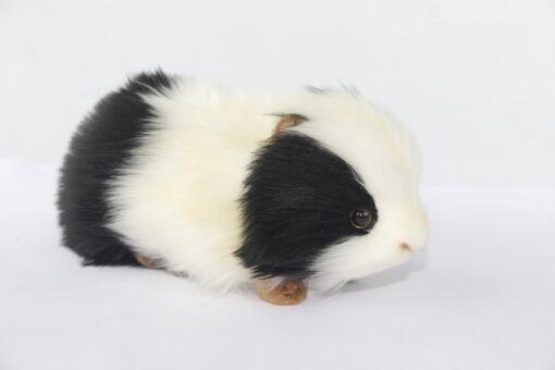 Mooie Zwarte Cavia zwart/wit knuffel  19 cm kopen