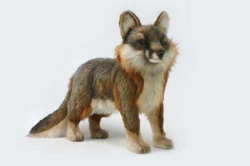 Mooie Bruine Grijze vos staand knuffel  40 cm kopen