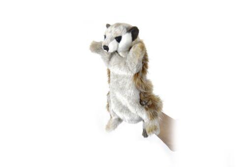 Mooie Beige Meerkat handpop knuffel  28 cm kopen