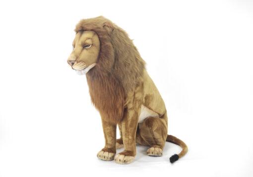 Mooie XL Roze Leeuw mannetje zittend decoratie  130 cm kopen