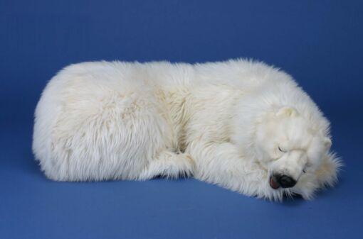 Mooie XL Witte IJsbeer mama slapend decoratie  120 cm kopen