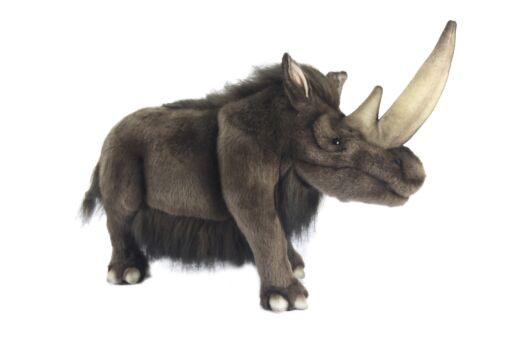 Mooie Donkere Wolharige neushoorn knuffel  55 cm kopen