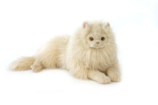 Mooie XL Creme Cyperse kat liggend knuffel  70 cm kopen