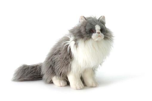 Mooie Grijze Cyperse kat knuffel  38 cm kopen