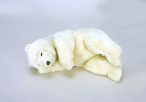Mooie Witte Roomwitte beer slapend knuffel  60 cm kopen