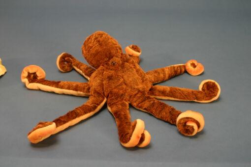 Mooie XL Roodbruine Octopus knuffel  70 cm kopen