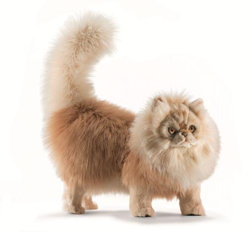 Mooie Beige Cyperse kat staand knuffel  45 cm kopen