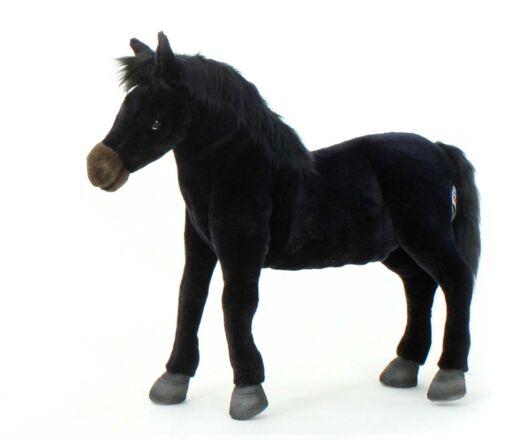 Mooie Zwarte Wild paard knuffel  45 cm kopen