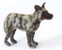 Mooie Zwarte Afrikaanse wilde hond knuffel  40 cm kopen