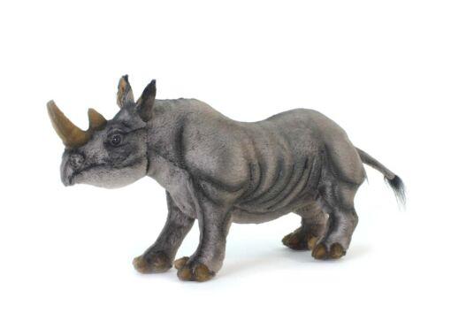 Mooie Grijze Zwarte neushoorn knuffel  46 cm kopen