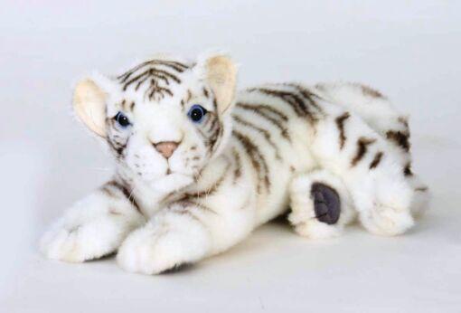 Mooie Goudgele Bengaalse tijger welp liggend knuffel  26 cm kopen