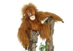 Mooie Roodbruine Orang-oetan knuffel  28 cm kopen