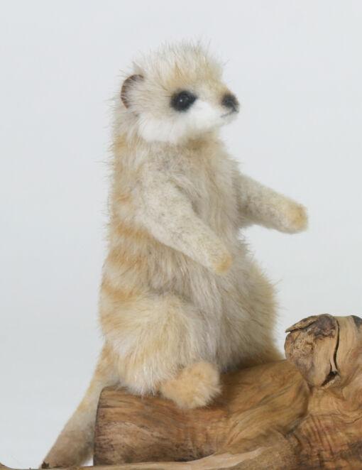 Mooie Beige Meerkat zittend knuffel  12 cm kopen