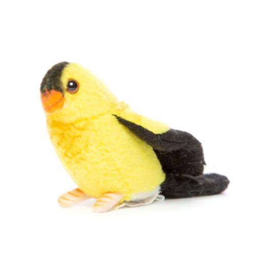 Mooie Zwarte Gele vogel knuffel  13 cm kopen