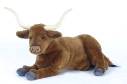Mooie Roodbruine Stier liggend knuffel  44 cm kopen