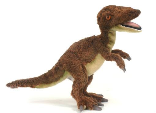Mooie Bruine Velociraptor knuffel  48 cm kopen