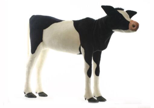 Mooie XL Zwarte Kalf Friese koe decoratie  125 cm kopen