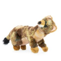 Mooie Roodbruine Japanse hermelijn knuffel  28 cm kopen